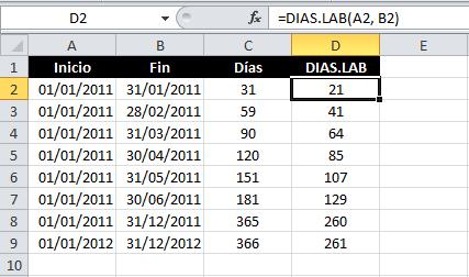 Contar Los Días Entre Dos Fechas En Excel Excel Total
