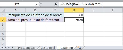 Referencia a un rango en otra hoja de Excel