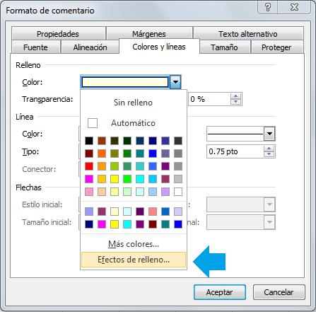 Comentarios en celdas de Excel con imágenes