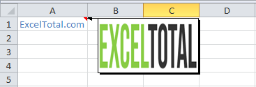 Comentario de Excel con imagen de fondo