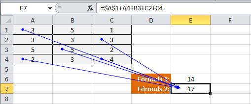 Copia de una referencia absoluta en Excel