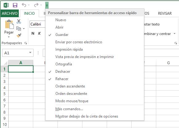Barra De Herramientas De Acceso Rápido En Excel Excel Total