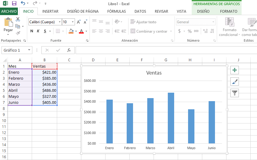 Pestañas contextuales en la cinta de opciones de Excel 2013