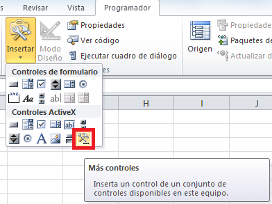 Calendar Control en Excel 2010