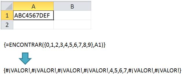 Extraer números de una celda en Excel