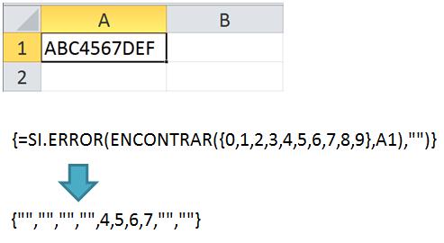 Extraer números de cadenas alfanuméricas