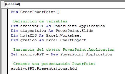 Macro para crear archivo PowerPoint