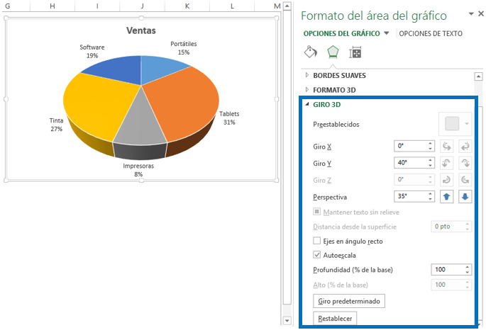 Gráfico circular en Excel 2013 - Excel Total