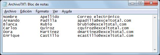 Exportar Excel a fichero de texto con longitud fija de columnas