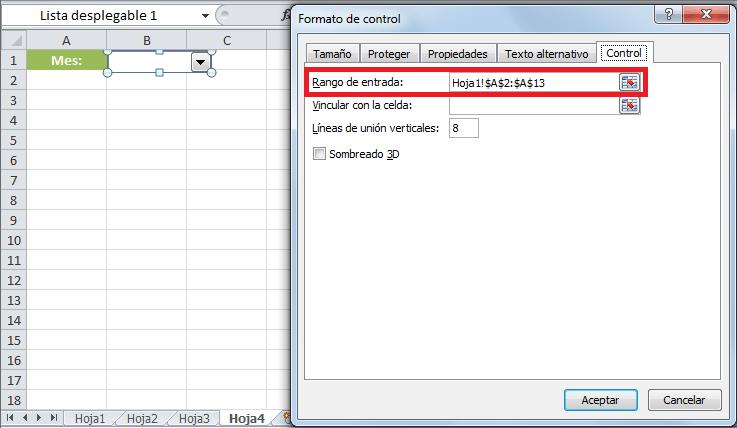 Cuadro combinado con datos de otra hoja
