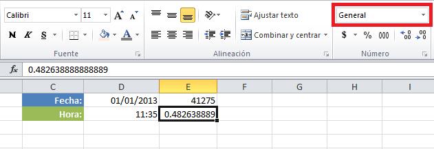 Cómo calcular horas entre dos fechas en Excel
