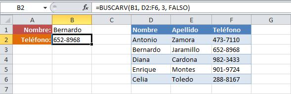 Cómo buscar datos en una tabla de Excel con una fórmula