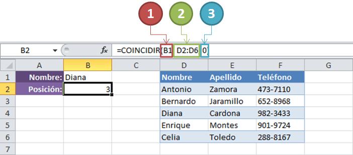 Fórmula de Excel para buscar valor en una base de datos