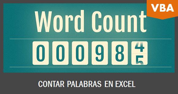 Contar palabras en Excel con una macro