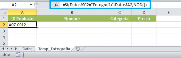 Pasar datos de una hoja Excel a otra