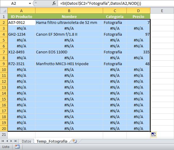 Vincular datos de una hoja a otra en Excel