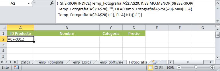 Fórmula para copiar datos de una hoja a otra en Excel