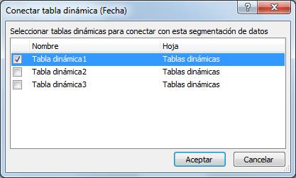 Tablas dinámicas vinculadas en Excel
