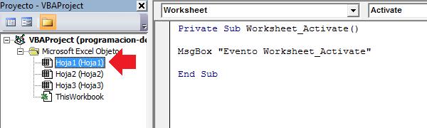 Programación de eventos en Excel - Excel Total