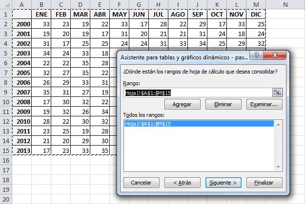 Convertir matriz en columnas ordenadas