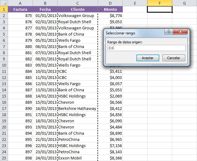 Cómo obtener una lista de valores únicos en Excel