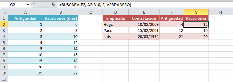 Calcular Dias De Vacaciones En Excel Excel Total
