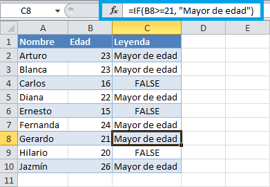 Tutorial funcion IF en Excel