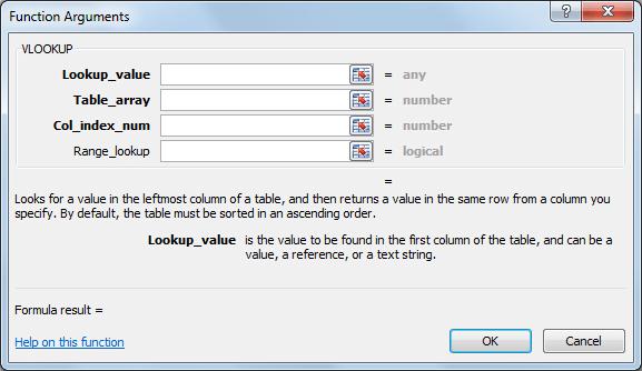 Función VLOOKUP en Excel