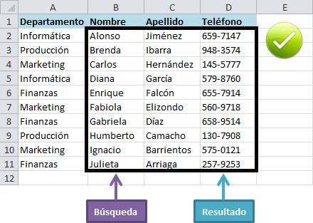 Función Excel VLOOKUP
