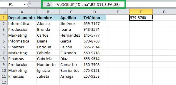 Guía rápida para usar la función VLOOKUP en Excel