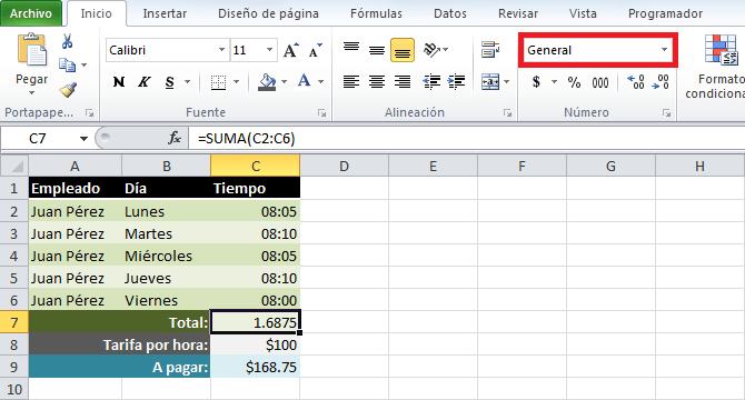Cómo multiplicar horas por dinero en Excel - Excel Total