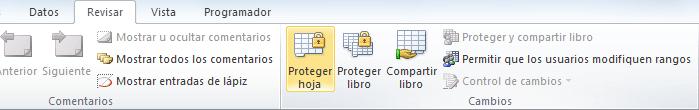 Proteger celdas en Excel