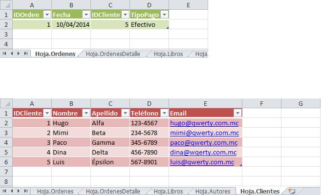Crear una base de datos con Excel
