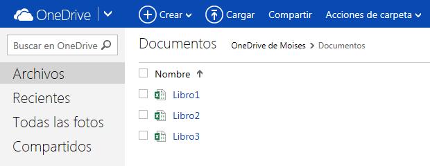 Hoja de cálculo Excel Online