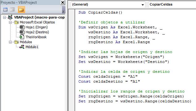 Macro para copiar datos de una hoja a otra