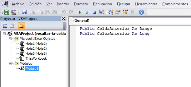 La variable CeldaAnterior almacenará la referencia a la última celda ...