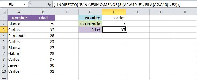 Cómo utilizar función BUSCARV con valores repetidos