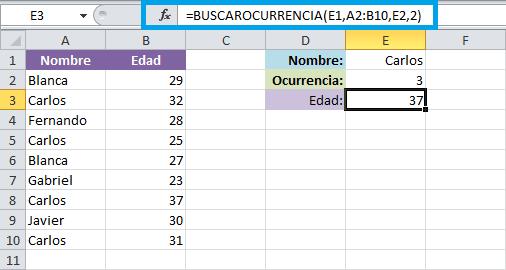 Macro para buscar ocurrencias entre valores repetidos en Excel