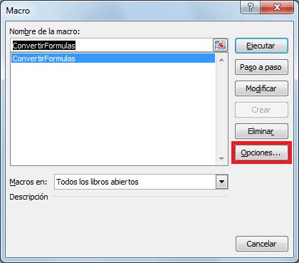 Convertir una fórmula de Excel en una constante