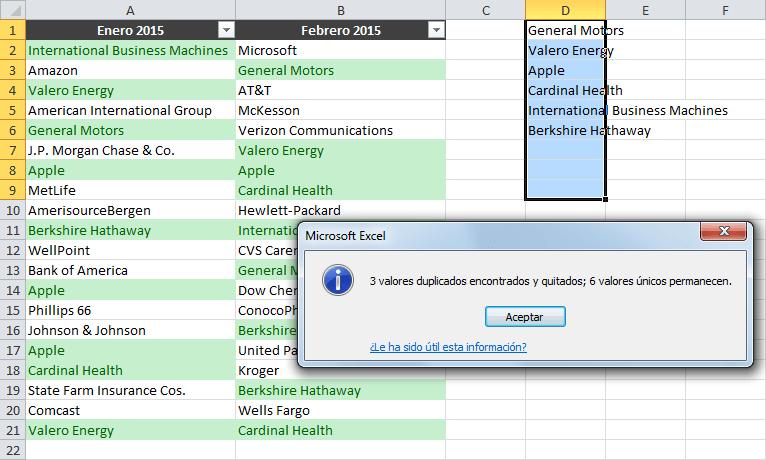 Cómo identificar datos duplicados en dos columnas de Excel