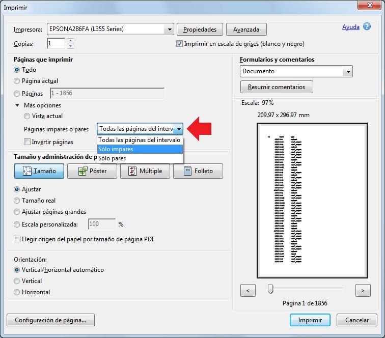 Cómo Imprimir Páginas Pares e Impares en Excel