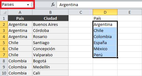 Cómo hacer listas desplegables dependientes en Excel